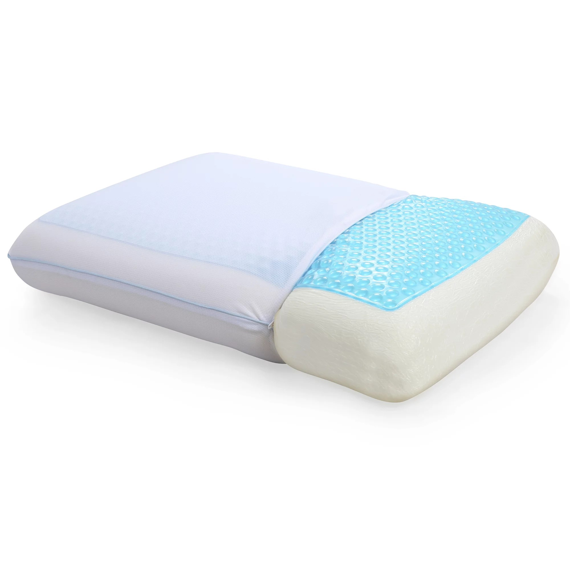Gel Infused Memory Foam Pillow Modern Sleep Reversible Cool Gel And Memory Foam Pillow Standard