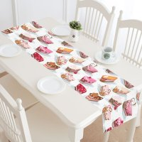 MYPOP Colorful Cake Table Runner Home Decor 16x72 Inch ...