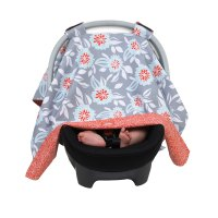 Balboa Baby Car Seat Canopy Cover - Grey Dahlia Floral ...
