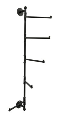 Distressed Finish Vertical Mounted Metal Towel Rack with 5 ...