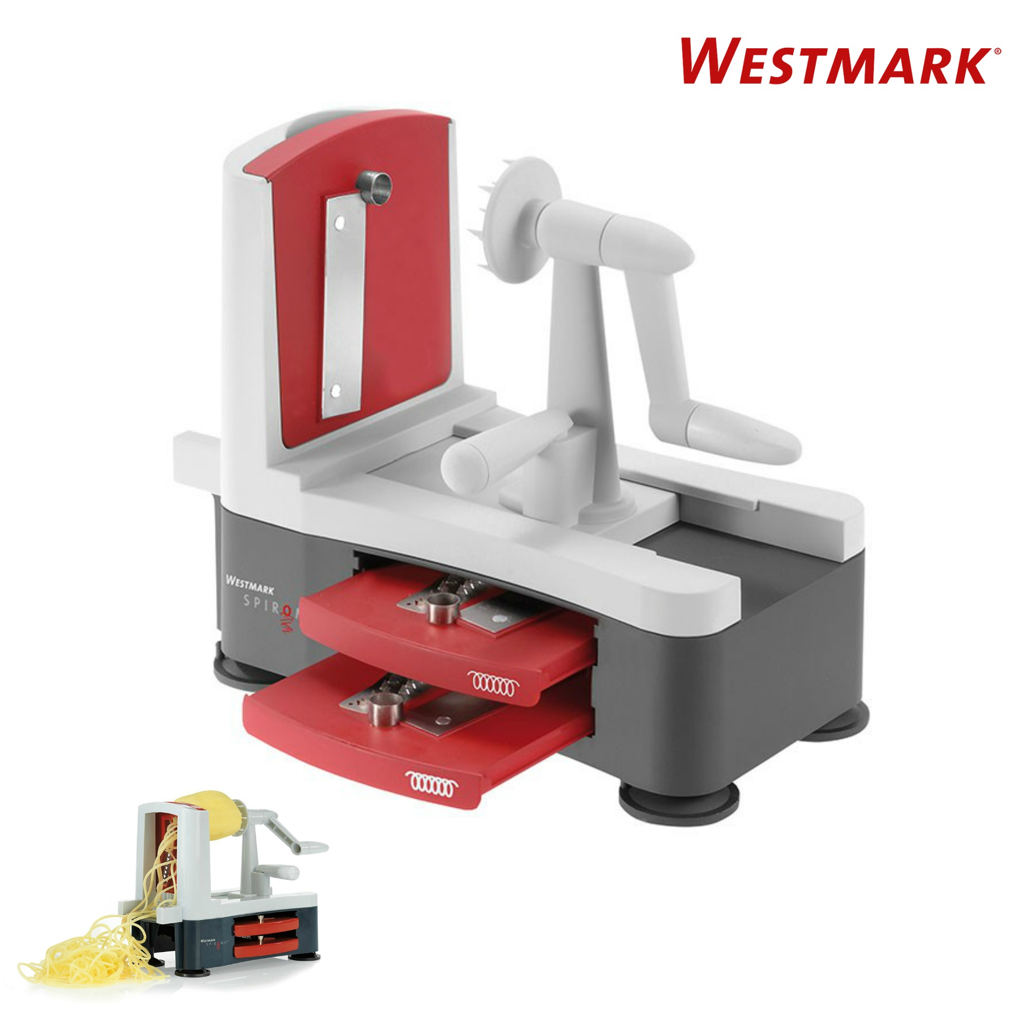 Westmark Elspe Westmark German High Quality Stainless Steel Tri Blade Vegetable Spiral Slicer Spiralizer