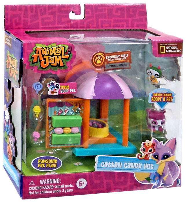 Animal Jam Cotton Candy Hut Playset Walmart