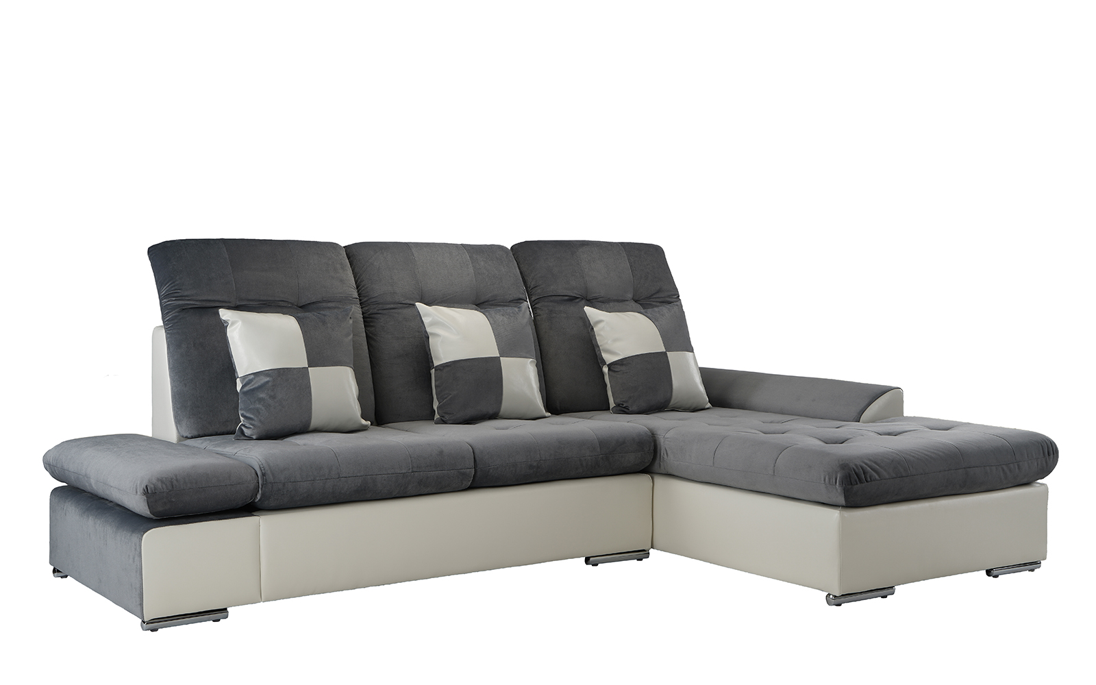 Microfiber Sectional Sofa Contemporary Microfiber Sectional Sofa With Chaise In Dark Grey