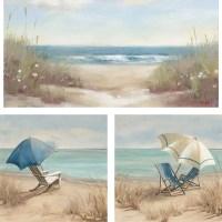 3-Piece Beach Scene Wall Art Set, 23x23 - Walmart.com