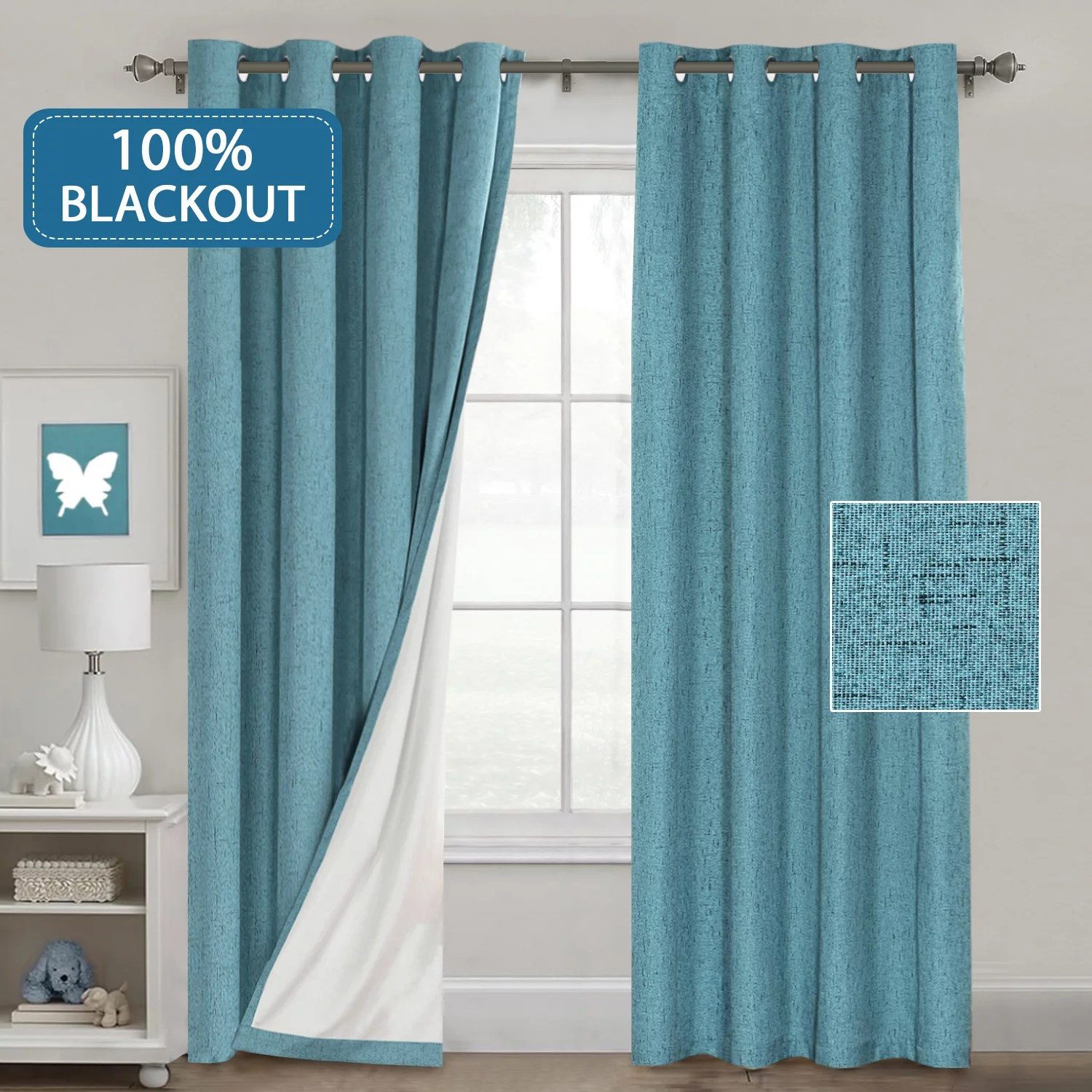 Bedroom Curtains Room Darkening Waterproof 100 Blackout Curtains For Bedroom Linen Look