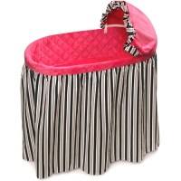 Badger Basket Embrace Baby Bassinet with Black and Pink ...