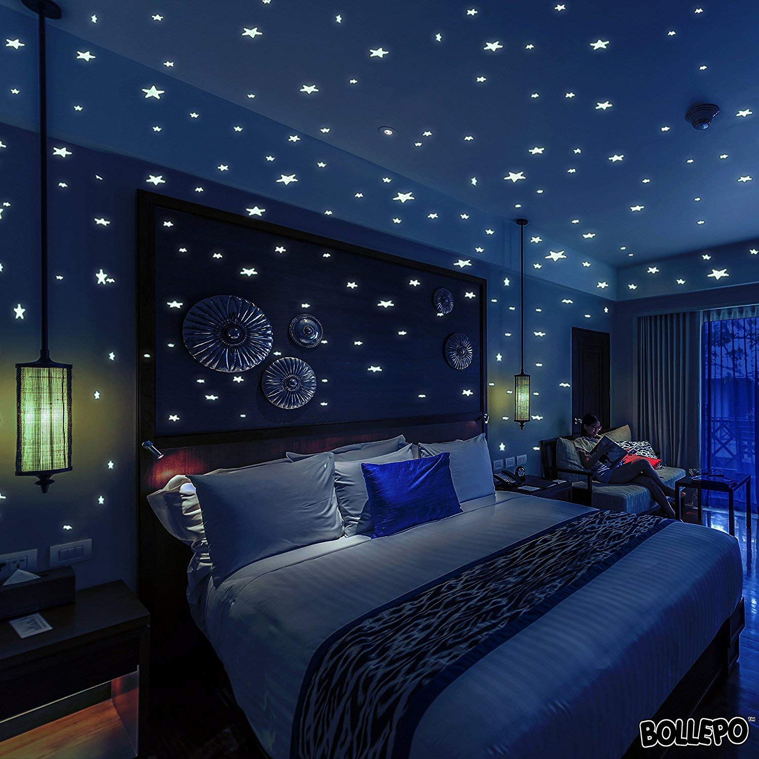 Stars Room Decor Bollepo Glow In The Dark Star And Dots 332 3d Wall Stickers For Kids Bedroom And Room Ceiling Gift Beautiful Glowing Wall Decals Stars