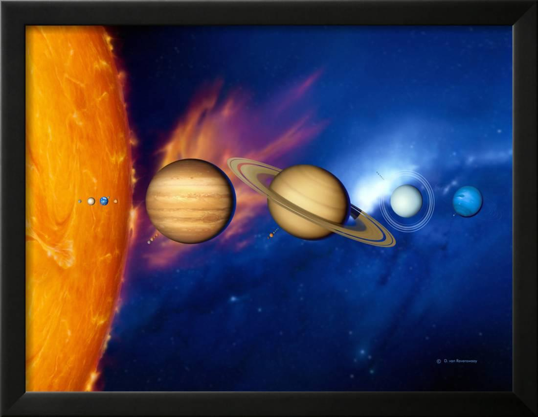 Planets Wall Art Sun And Its Planets Framed Print Wall Art By Detlev Van Ravenswaay