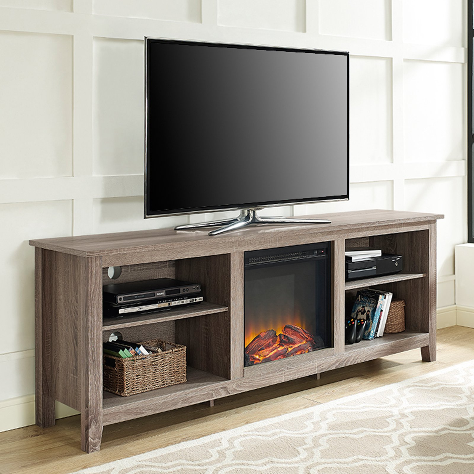 Fireplace Tv Combo Belham Living Richardson 70 In Fireplace Tv Stand