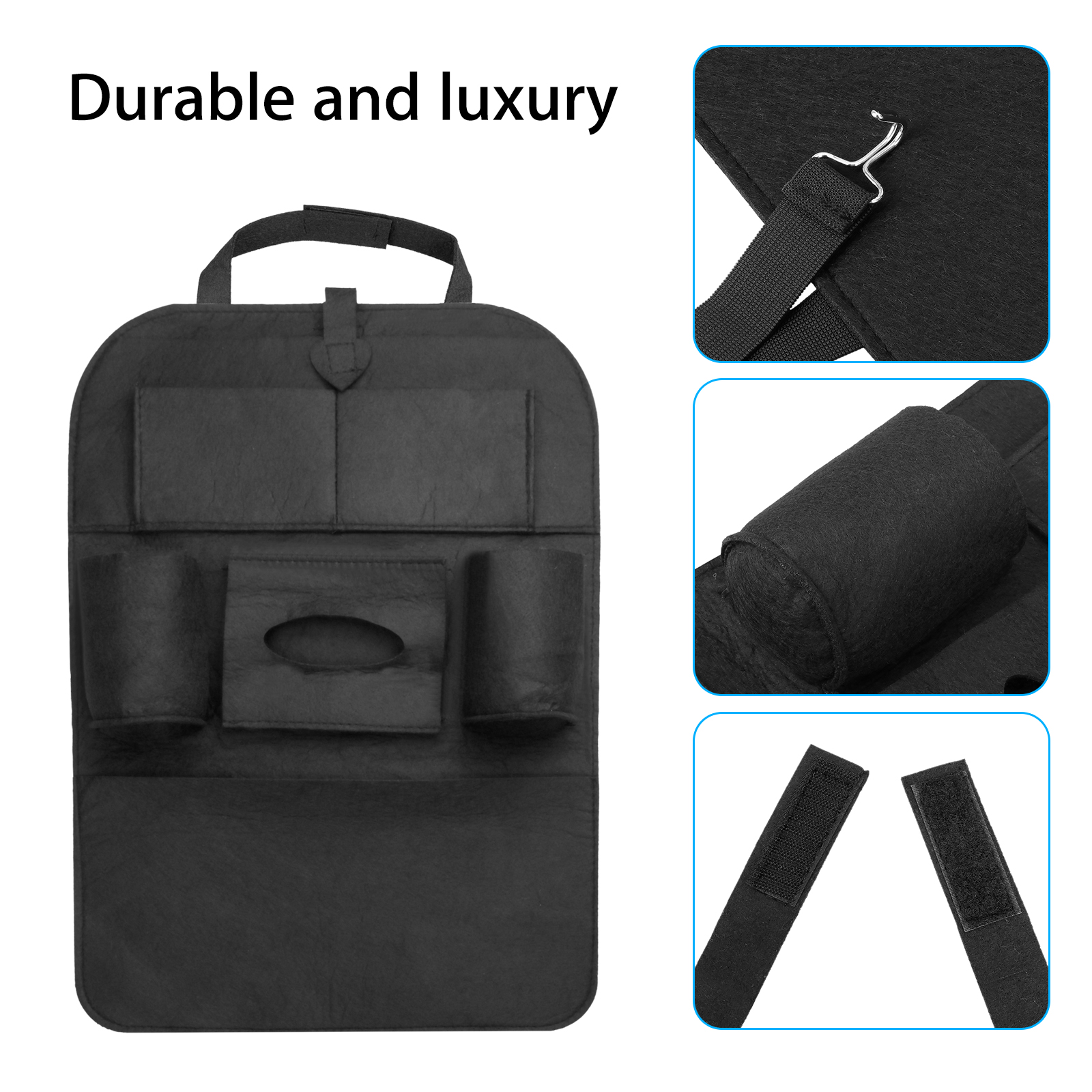 Auto Organizer Tablet Car Seat Organizer Auto Seat Back Organizer Multi Pocket Travel Sundry Hanging Storage Bag For Ipad Tablet Bottle Drink Tissue Box Toys Vehicles