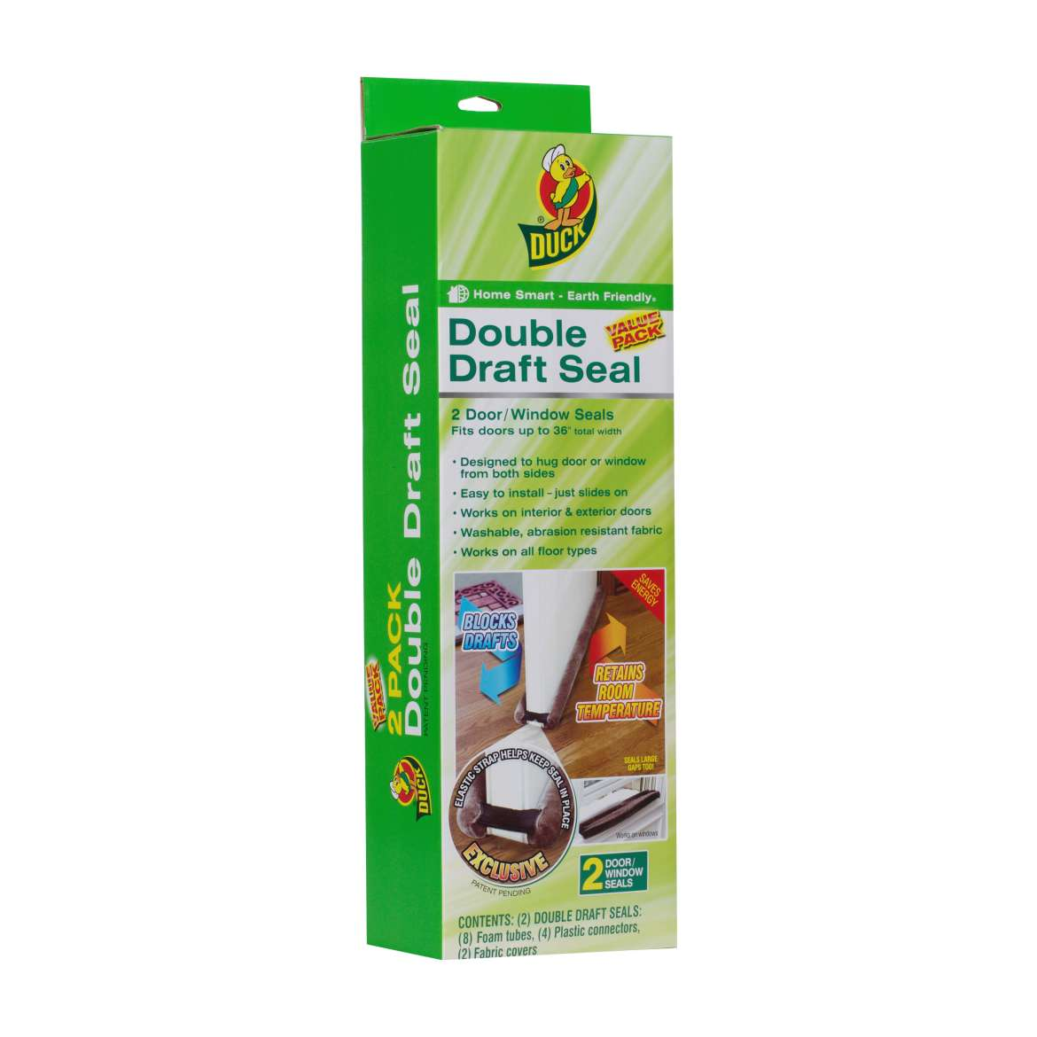 Storm Doors Edmonton Duck Brand Double Draft Door Seal Brown 2 Pack