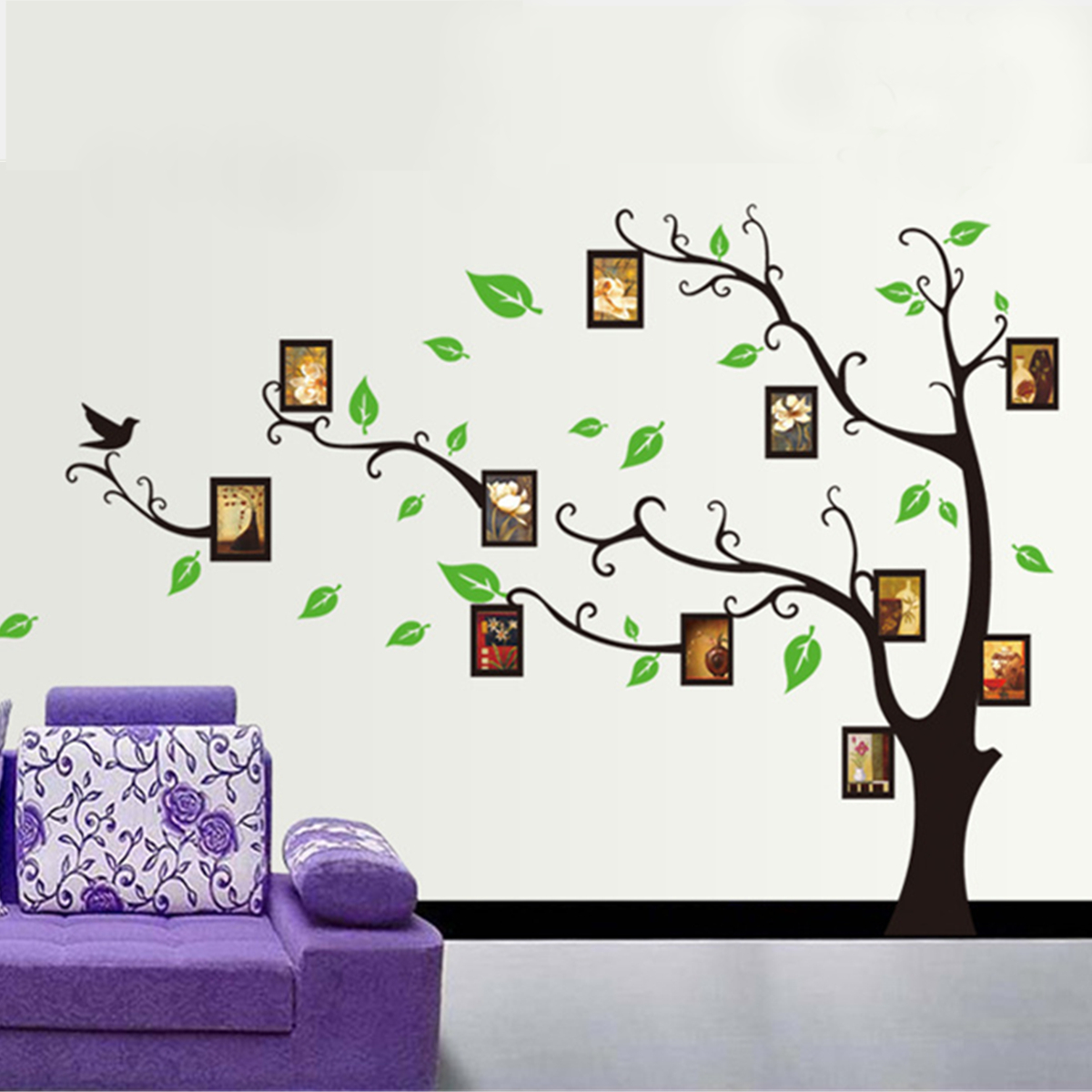 Décoration Murale Vinyle Large Family Tree Wall Decal Mural Peel Stick Vinyl Sheet