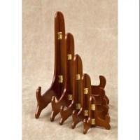 "10"" Walnut Wooden Stand Plate Holder Display - Walmart.com"