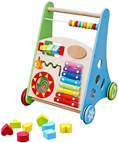 Wooden Baby Walker With Multiple Activity Centre Walmart