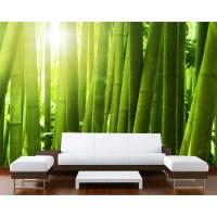 Startonight Mural Wall Art Green Bamboo Illuminated Nature ...