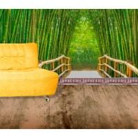 Startonight Mural Wall Art Bamboo Alley Illuminated Nature ...