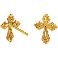 Jewelry Of Faith 14k Cross Earring Stud - Walmart.com