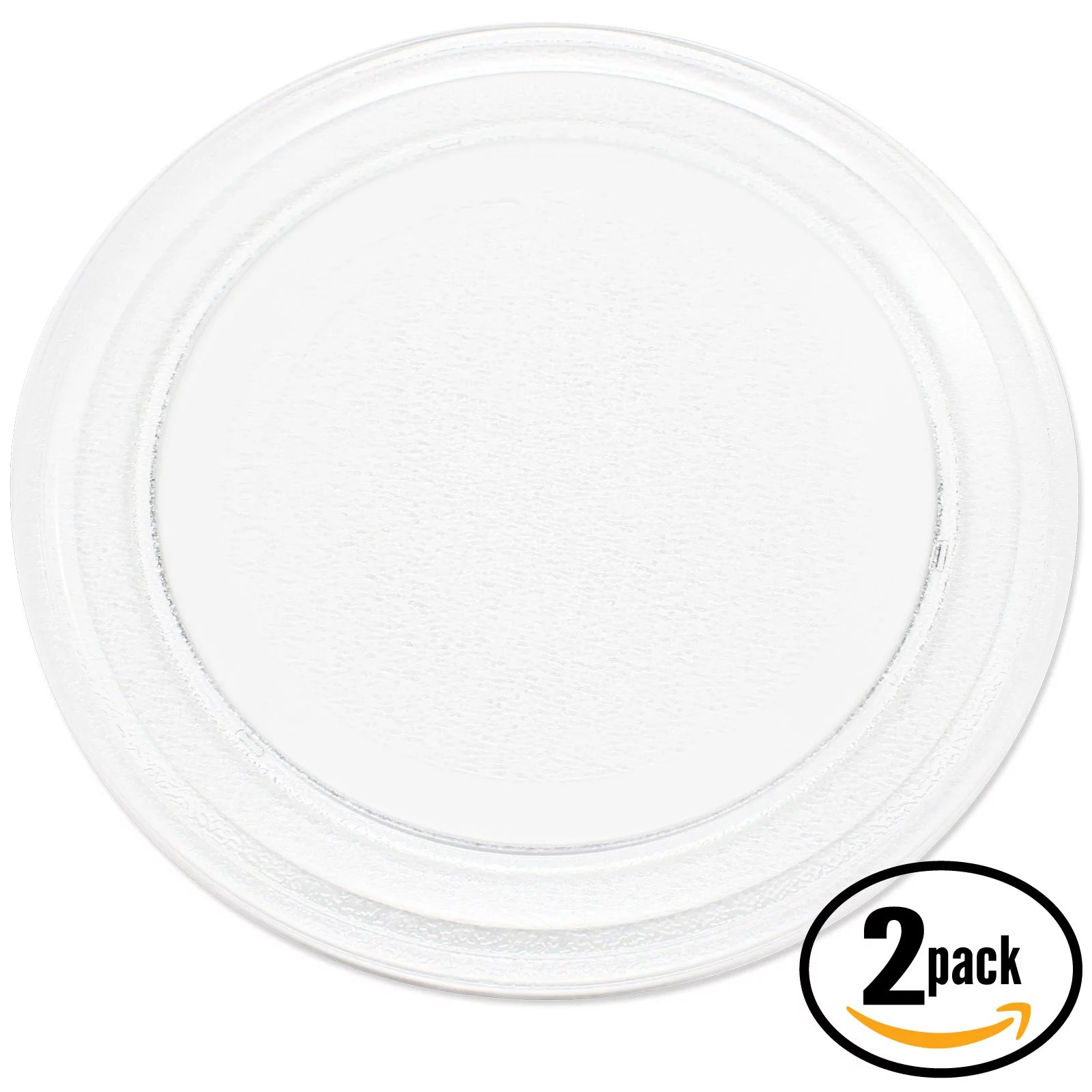 Glass Plate Cover For Microwave 2 Pack Replacement Oster Om0701a8b Microwave Glass Plate Compatible Oster 3390w1a035 Microwave Glass Turntable Tray 9 5 8