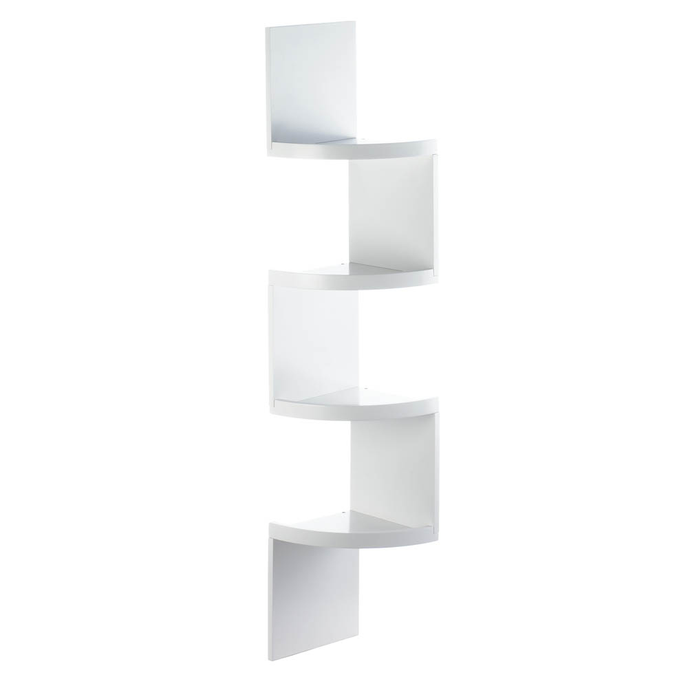 Corner Wall Shelf Unit Corner Shelf Unit Corner Storage Shelf Rustic White 4 Tier Corner