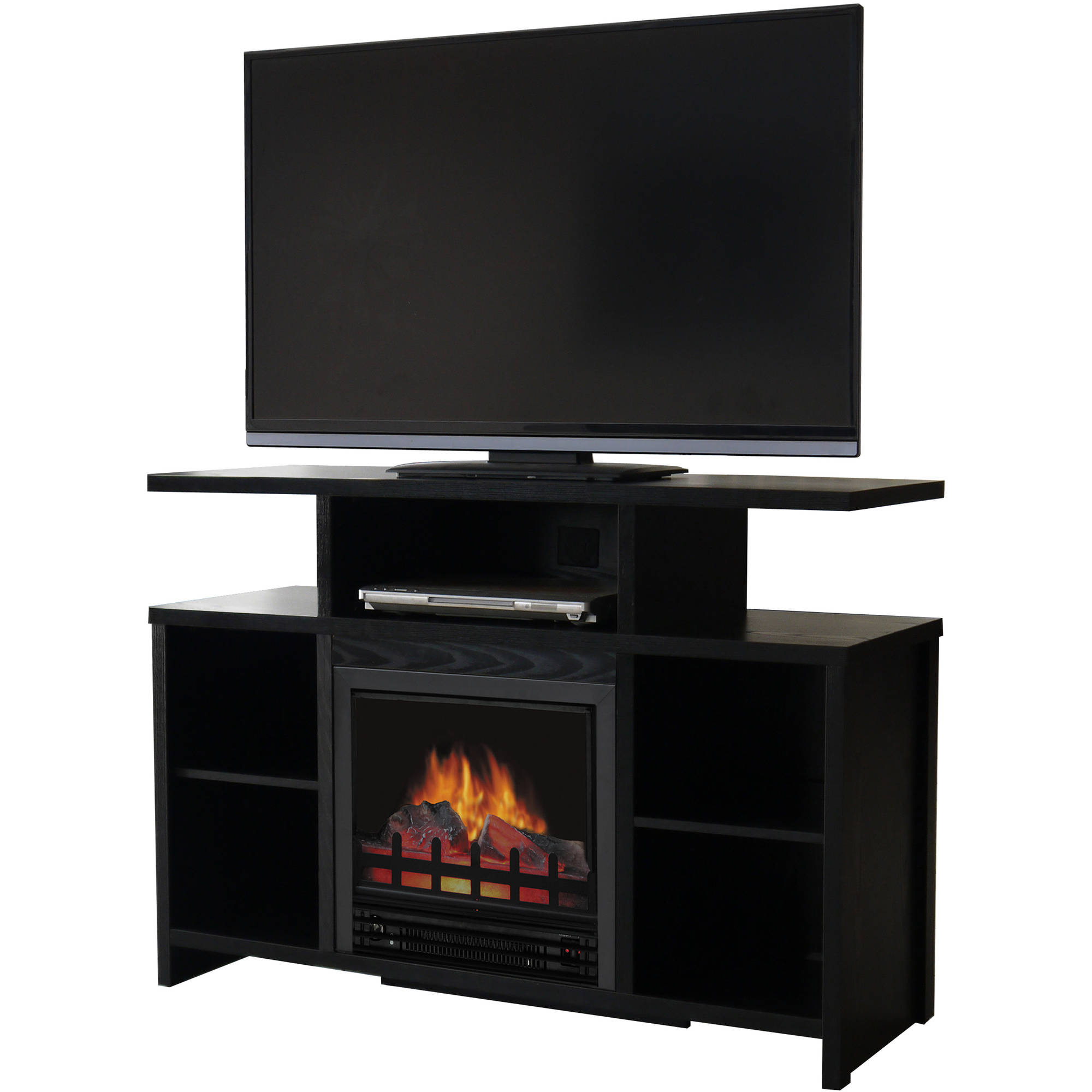 Walmart Black Electric Fireplace Décor Flame Acadia 42
