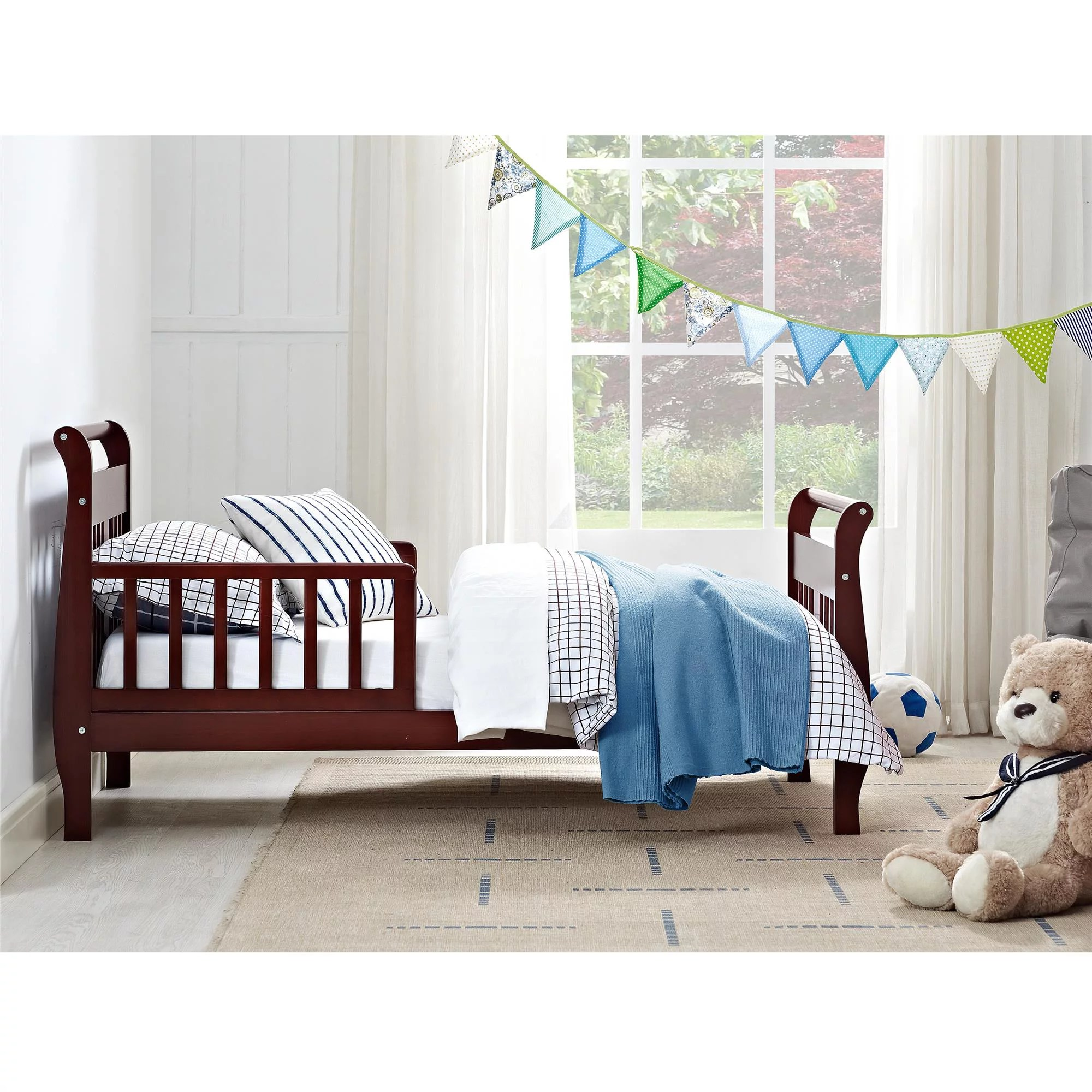 Baby Relax Toddler Bed Baby Relax Sleigh Wood Toddler Bed With Safety Rails