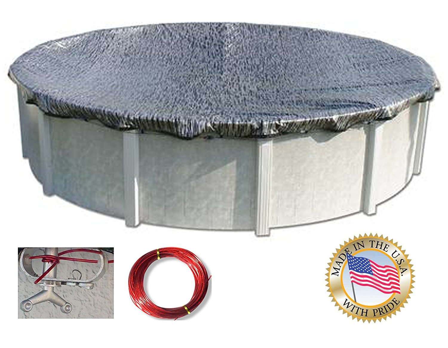 Above Ground Pool Winter Cover Hpi Enviro Mesh 24 Round Winter Cover For Above Ground Pools Gray