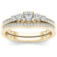 Imperial 1/2 Carat T.W. Diamond Classic 14kt Yellow Gold ...