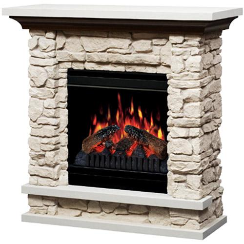Dimplex 36quot Compact Stone Electric Fireplace Walmartcom