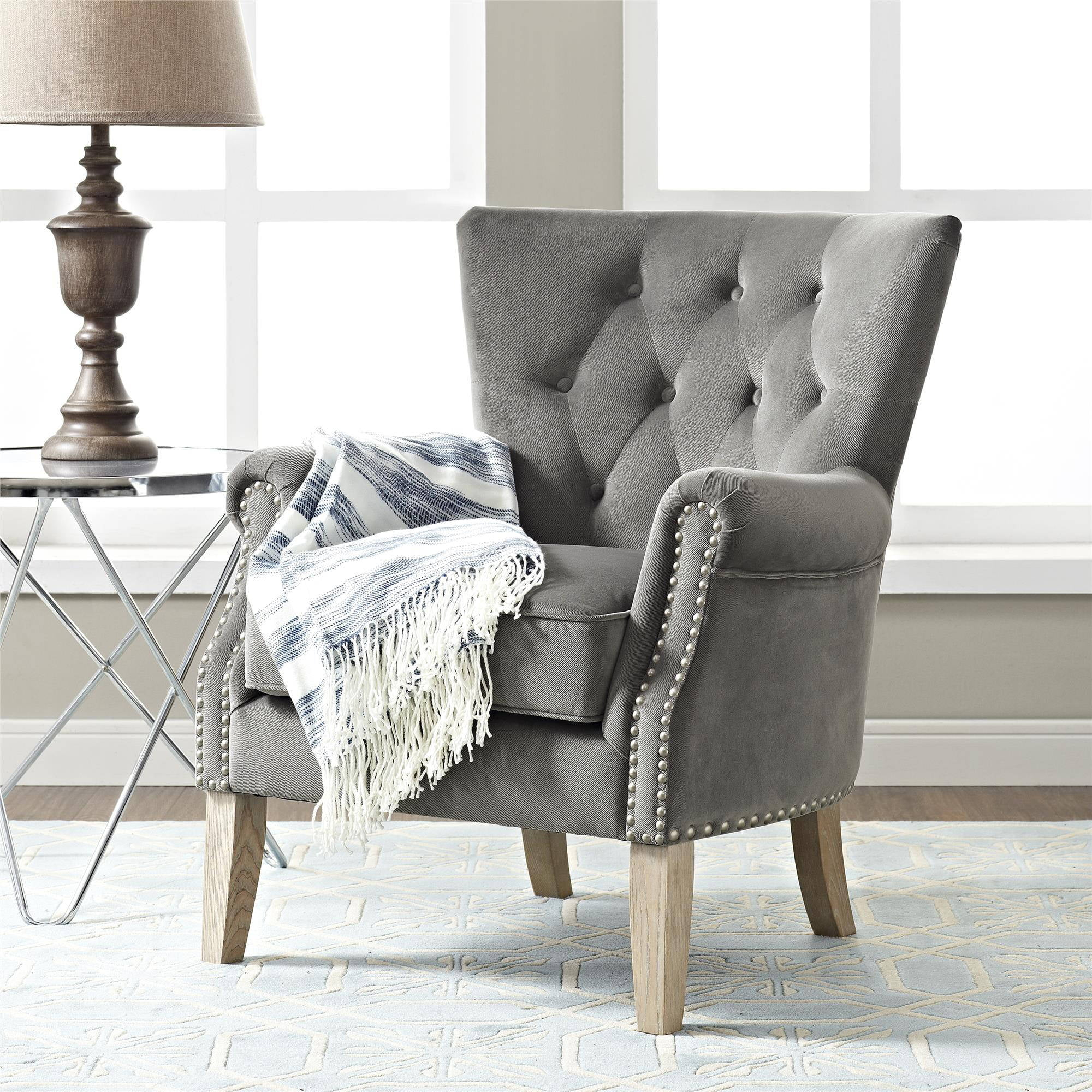 Beautiful Accent Chairs Better Homes Gardens Rolled Arm Accent Chair Multiple Colors