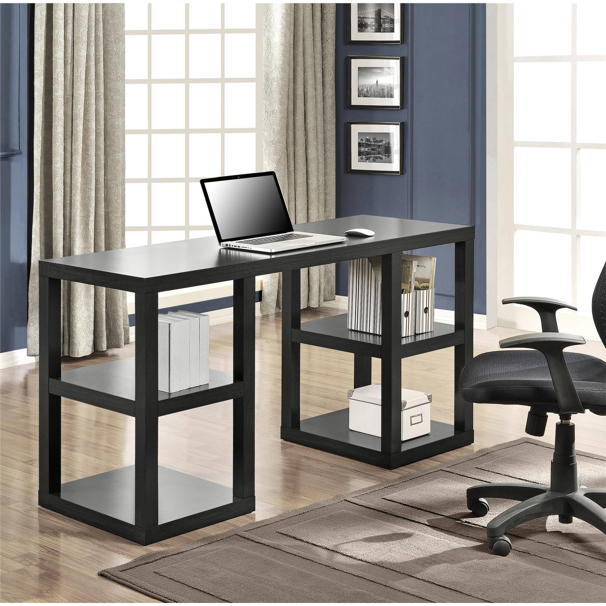Double Home Office Desk Computer Desk Home Office Double Pedestal Parsons Desk