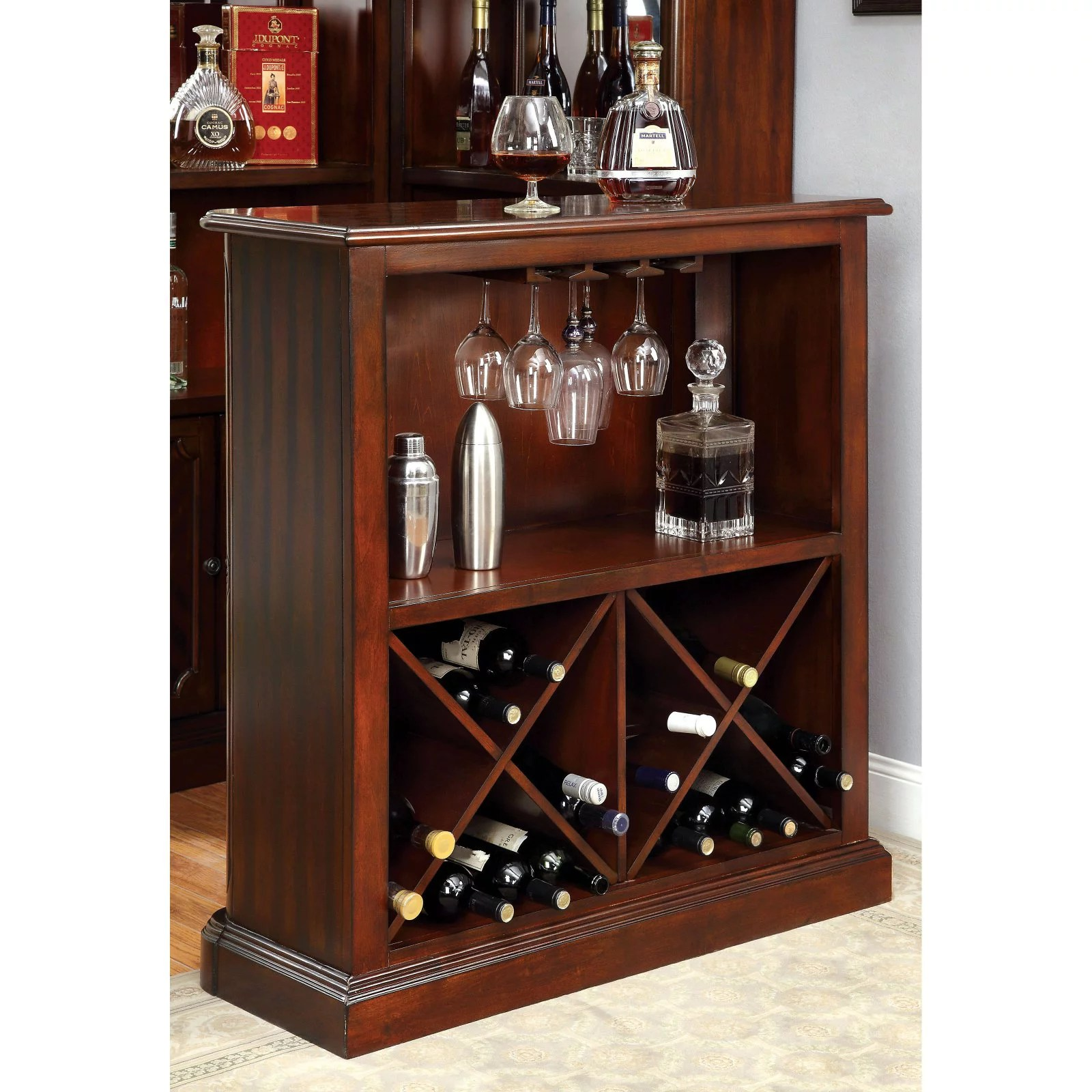 Home Bar Furniture Furniture Of America Wolfgang Home Bar Cabinet