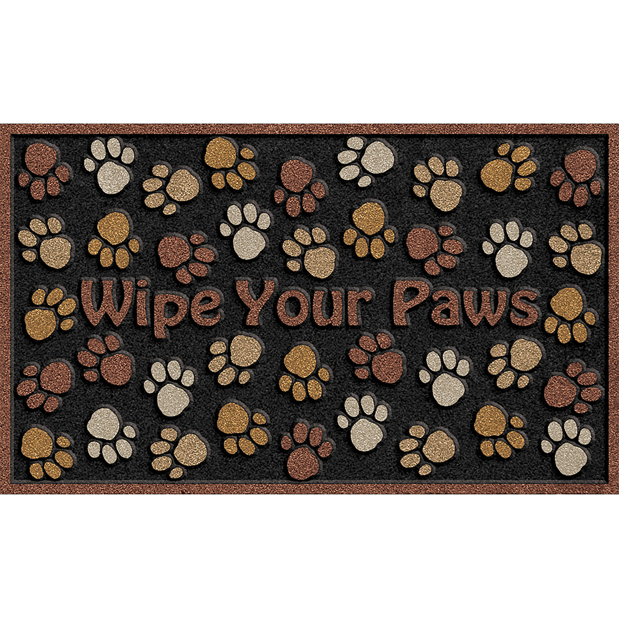 kitchen floor mats walmart Wipe Your Paws 18 30 Brown