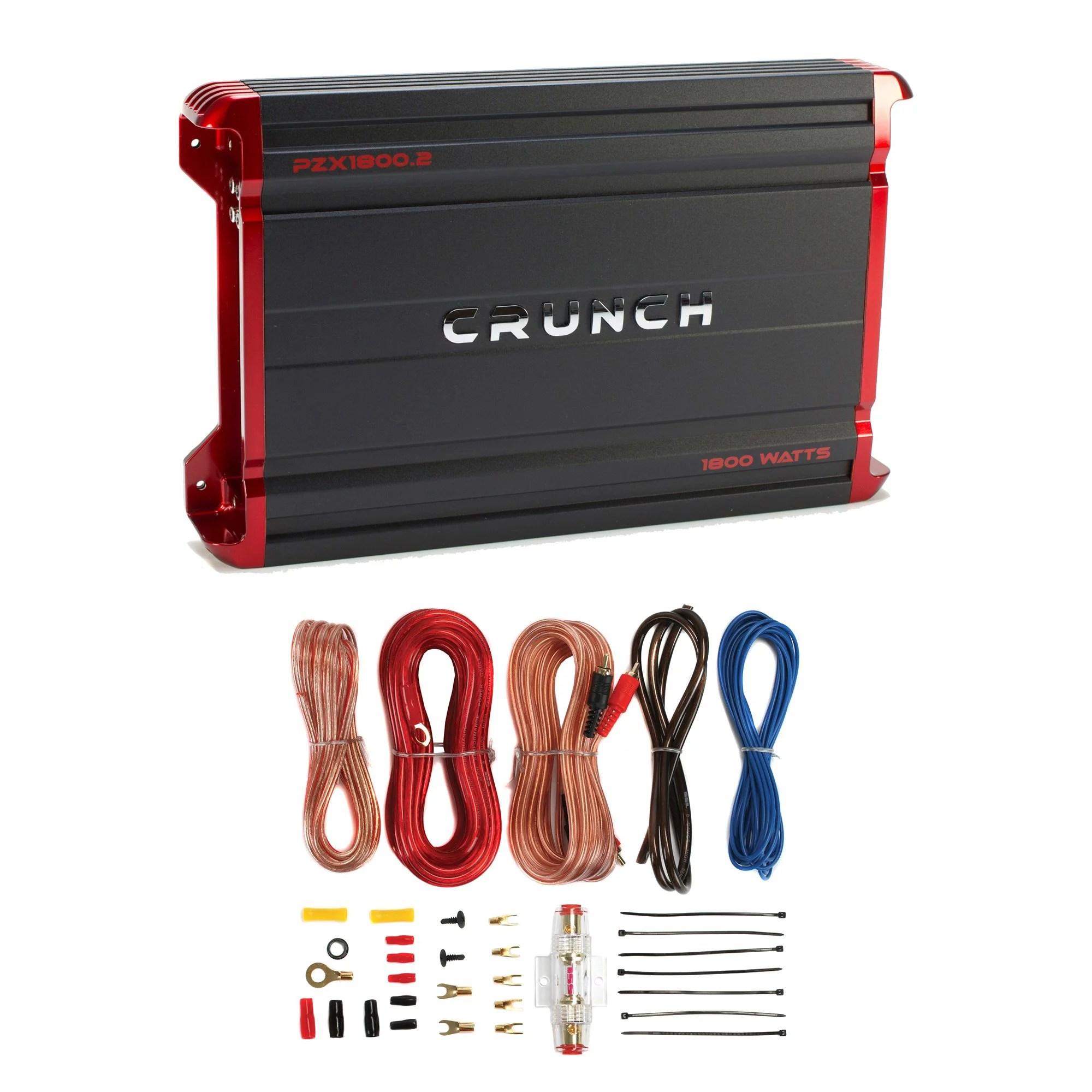 crunch sub amp wiring diagram