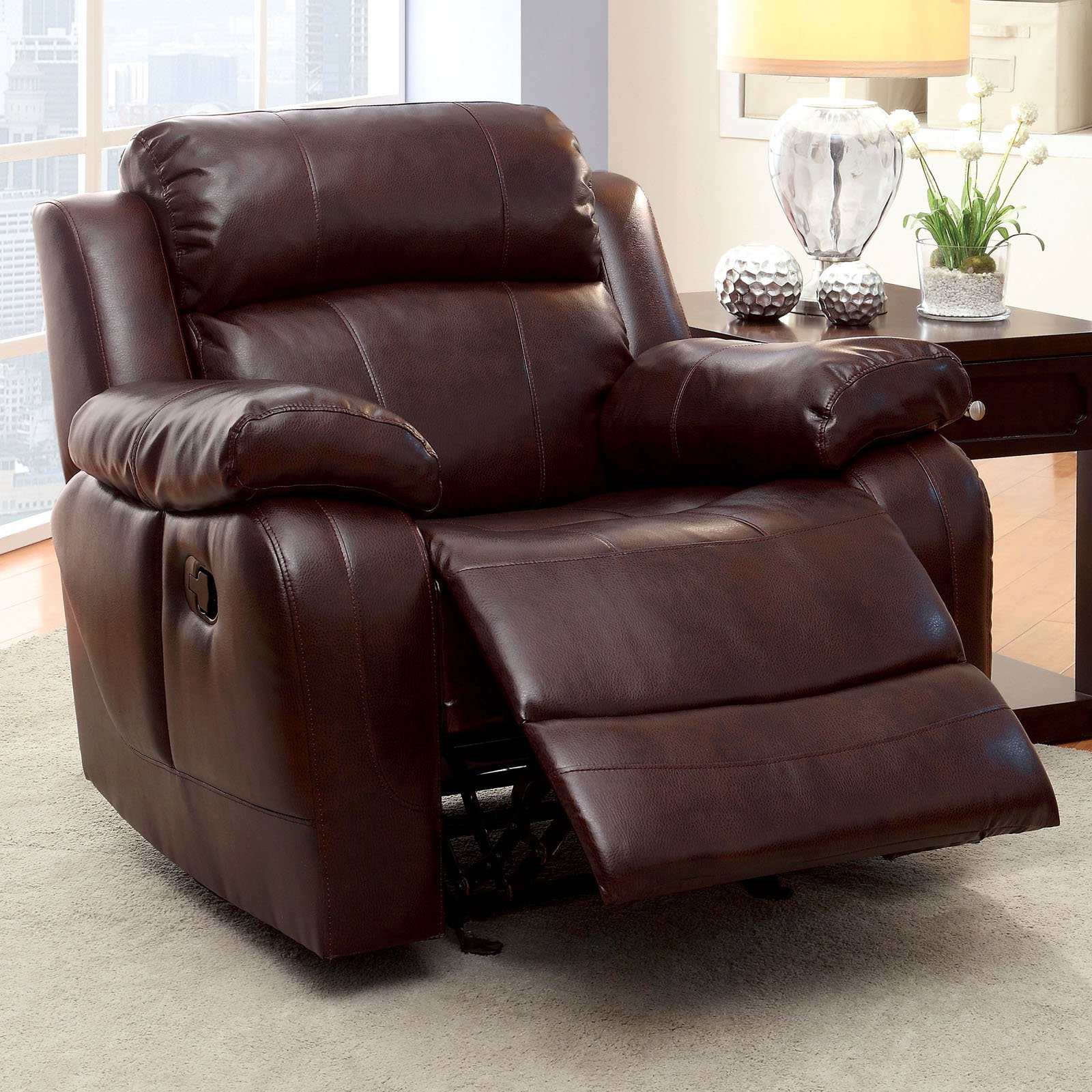 Outdoor Hartwig Furniture Of America Hartwig Leather Recliner
