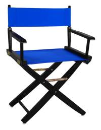 Extra-Wide Premium Directors Chair with Royal Blue Canvas ...