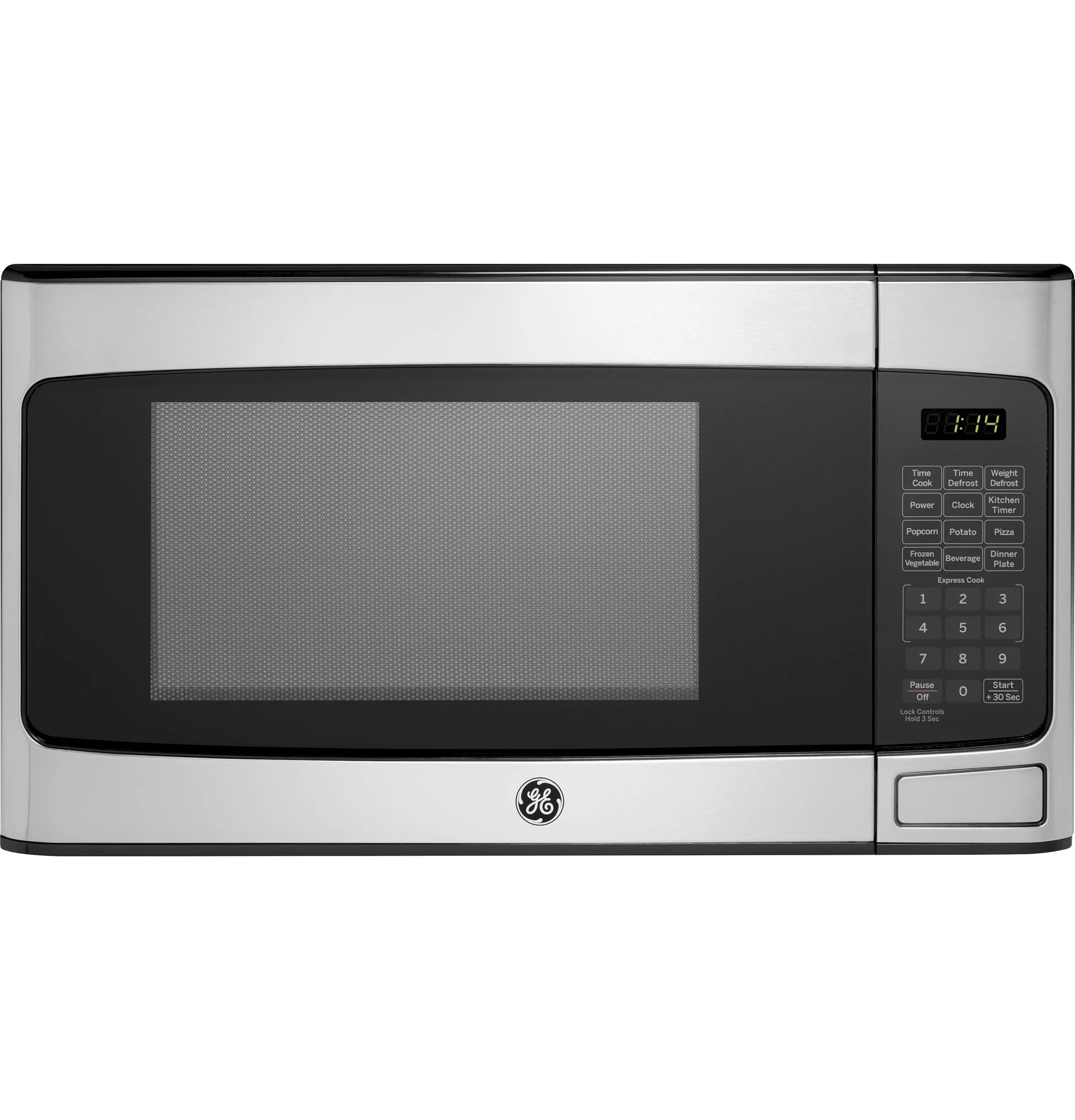 Lowes Countertop Microwaves General Electric 1 1 Cu Ft Countertop Stainless Steel Microwave Oven