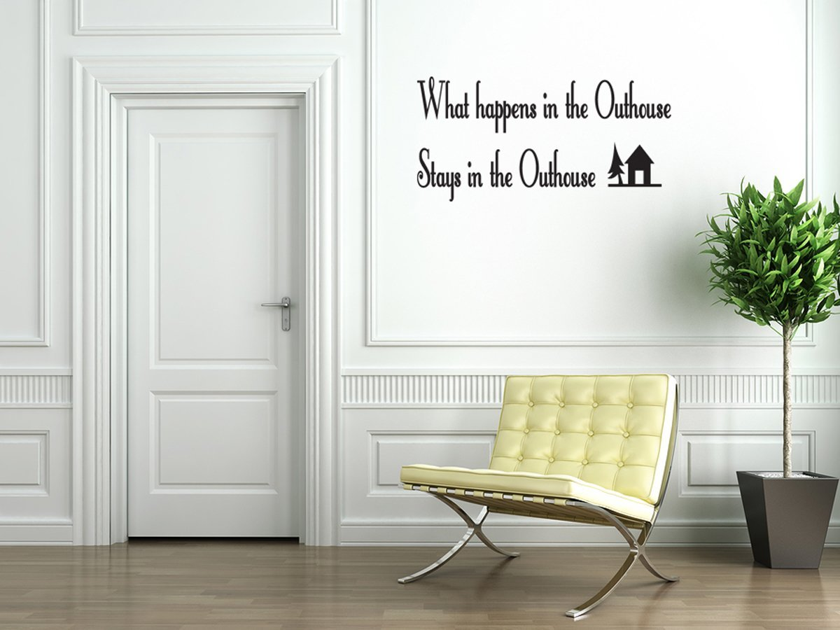 Outhouse Bathroom Vinyl Wall Decal Quotes Wall Stickers Bathroom Decals Home Decor Decals 136 L Walmart Com Walmart Com