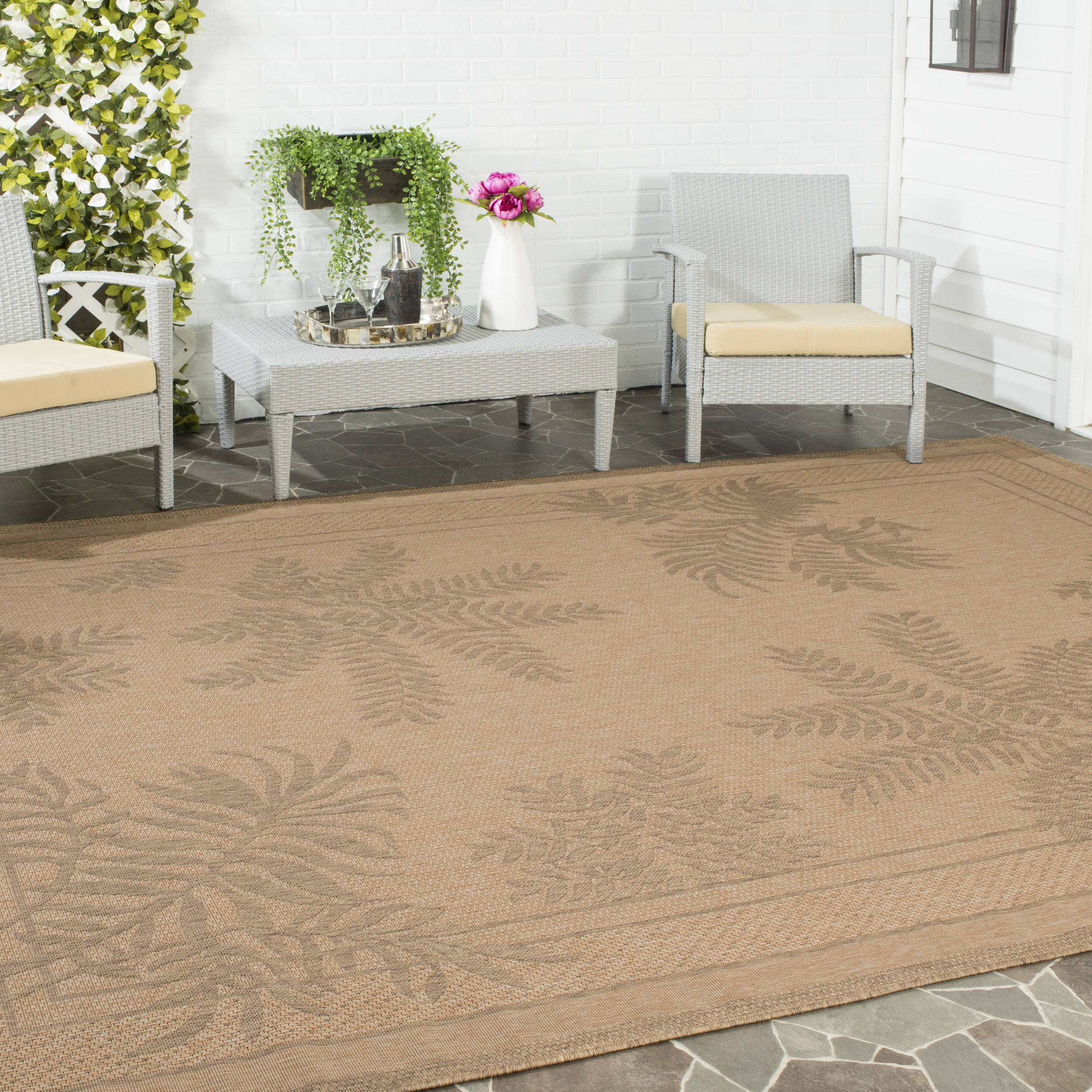 Safavieh Courtyard Safavieh Courtyard Annabelle Floral Indoor Outdoor Area Rug Or Runner