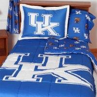 NCAA Kentucky Wildcats Bedding Set Blue Cotton Collegiate ...