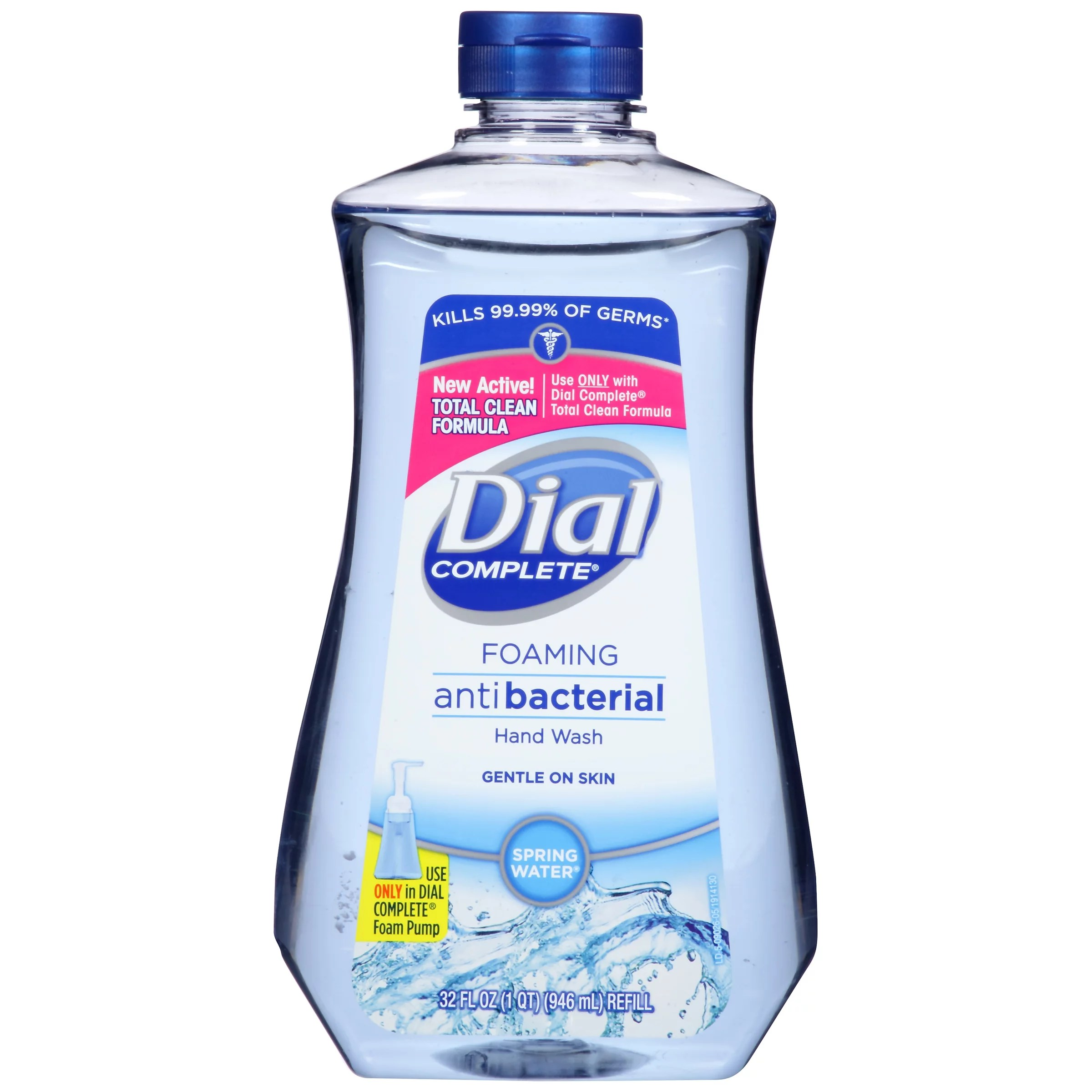 Hand Soap Refill Dial Complete Antibacterial Foaming Hand Wash Refill Spring Water 32 Ounce