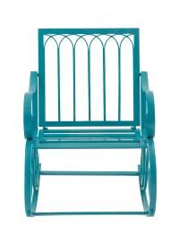 Decmode Metal Rocking Chair, Turquoise - Walmart.com