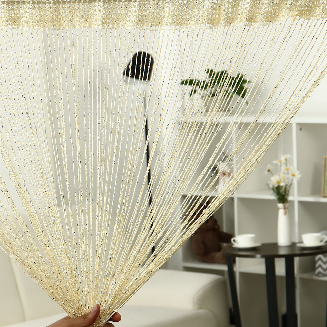 How To Make Curtain Lights String Curtain Fringe Panel 39