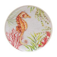 Seahorse Dinnerware & Costiera Seahorse Blue Dinner Plate ...