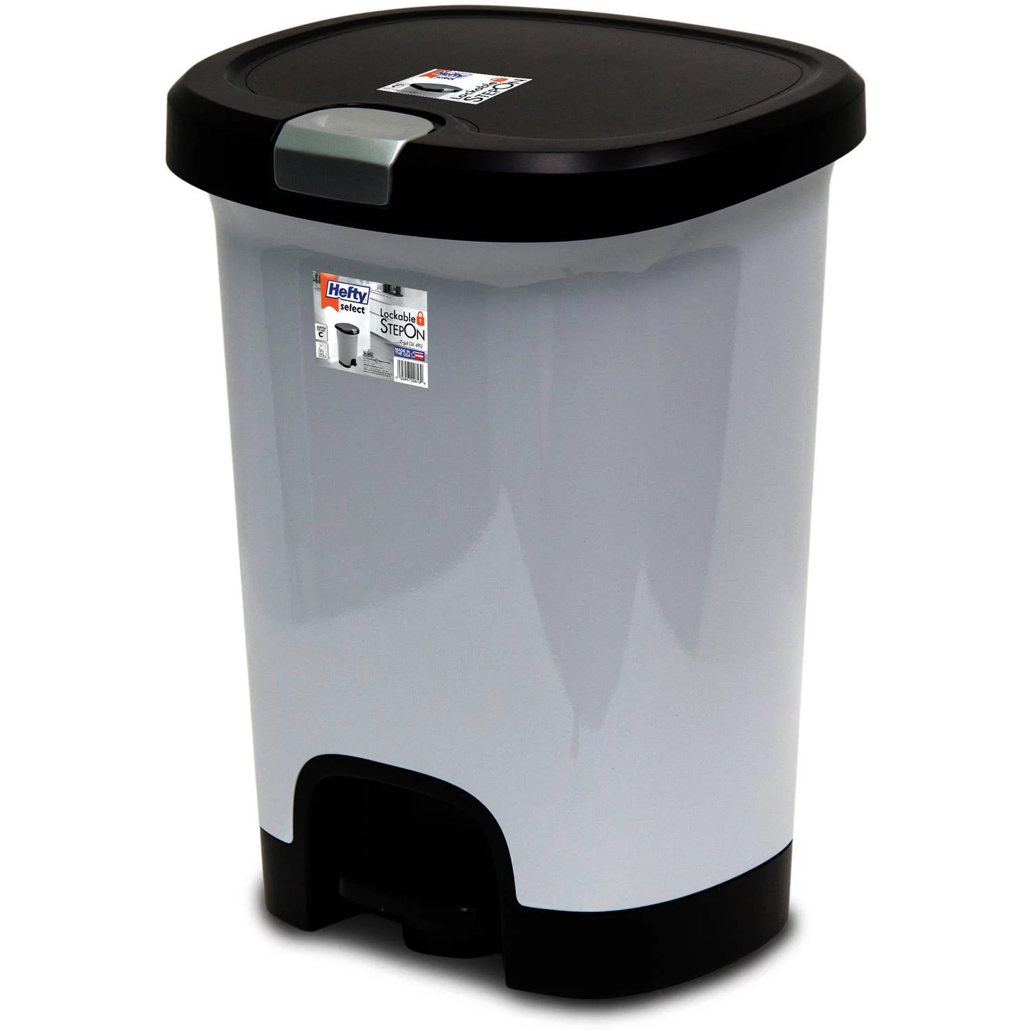 Colorful Garbage Cans Hefty 7 Gal Textured Step On Trash Can With Lid Lock And Bottom Cap Multiple Colors