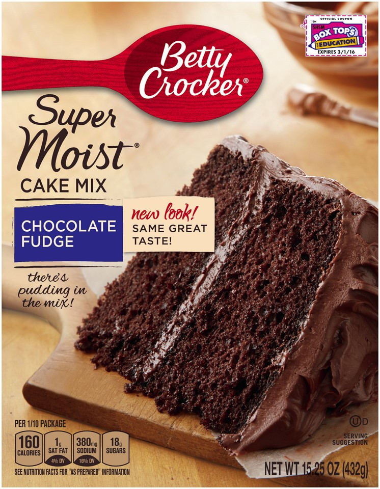 Betty Crocker Super Moist Chocolate Fudge Cake Mix, 15.25 Oz - Walmart.com