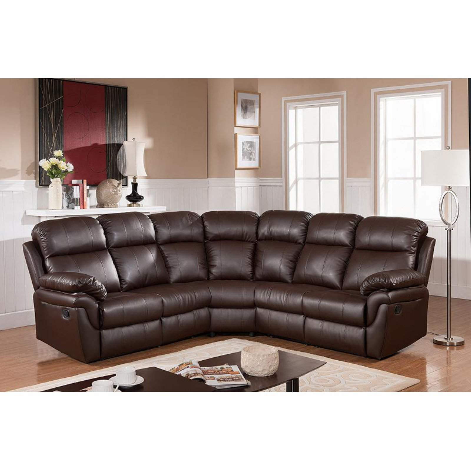 Sofa Frankfurt Frankfurt Sectional Sofa With Two Recliners