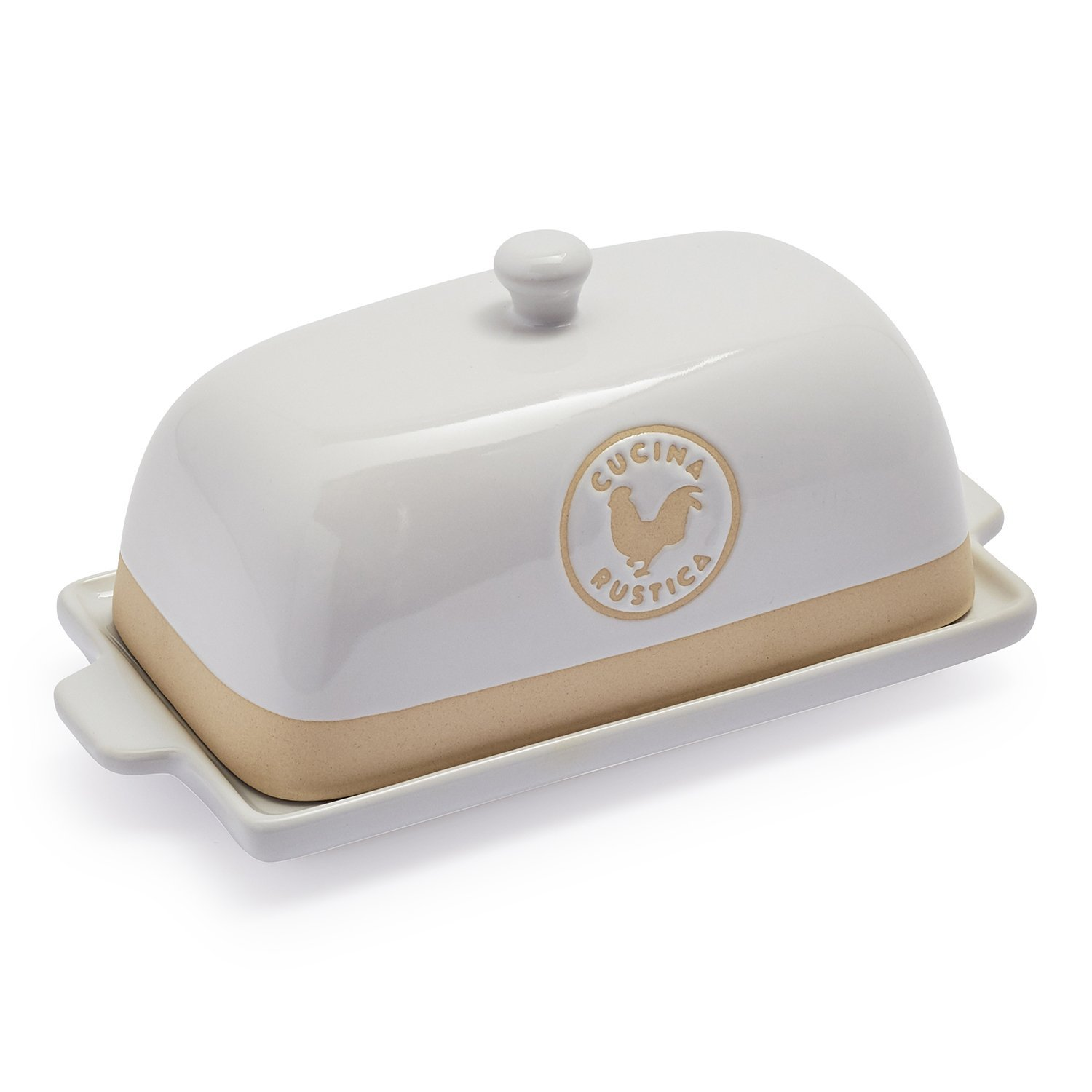 Cucina Kitchen Products Cucina Rustica Butter Dish As1680 Bt Red White Cucina Rustica