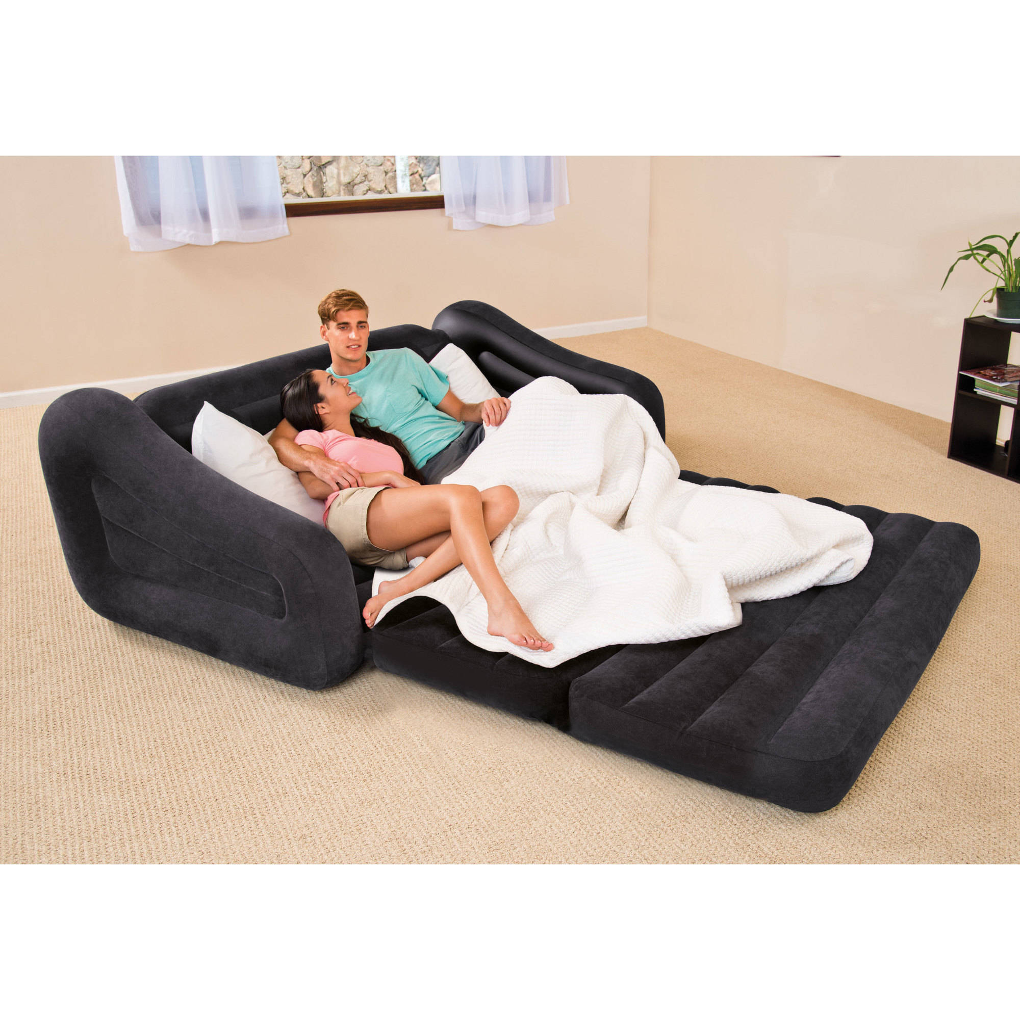 Retro Inflatable Sofa Intex Queen Inflatable Pull Out Sofa Bed 1 Each Walmart