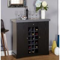 Wine Cabinet, Gray - Walmart.com
