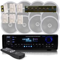 Pyle - 6 Channel In-Ceiling Speaker System With Digital ...